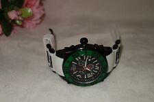 AQUASWISS Chronograph Swiss Quartz Large 50 MM Watch Stainless Steel green NEW