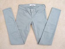 NWT Hollister Womens Skinny Jeans Jeggings Size 0 Pants Grayish Green