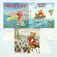 The Rupert Annual 2016 3 Books Collection Set (Classic Rupert advent calendar)