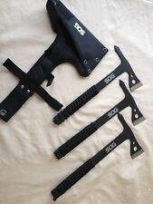 SOG Set of 3 Tactical Tomahawk Throwing Axes With Case