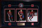 Montreal Canadiens 3 photo with puck signed by Maurice Richard Jean Beliveau Guy