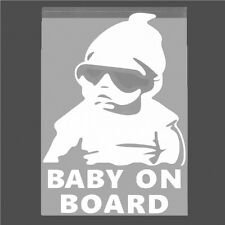 Baby On Board White Reflective Sticker Car SUV Body Window Door Vinyl Decal qh