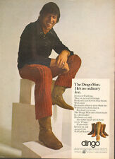 1970 vintage AD DINGO BOOTS Men's shoes w/ Joe Namath 091716