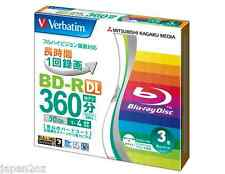 3 Blank VERBATIM Blu-Ray Discs 50GB BD-R DL 4x HD Disc REPACKED - AUSSIE STOCK