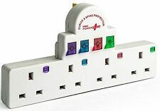 4 Way Spike and Surge 13Amp Switched Socket Extension Lead By Power Plus BS1363