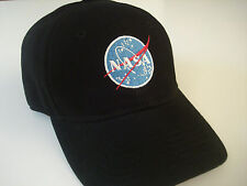 NASA embroidered logo black Hat science space fan Cap Halloween costume