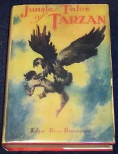 JUNGLE TALES OF TARZAN Edgar Rice Burroughs G&D 1928 partial ORIGINAL dust jackt