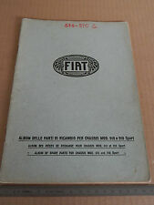 ALBUM PARTI DI RICAMBIO ORIGINALE 1926 CHASSIS FIAT 510 510 SPORT