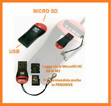 Adattatore convertitore.M2,Micro SD reader - USB 2.0. MicroSD.Per Windows e Mac.