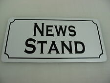 NEWS STAND Metal Sign 4 Old Time Small Town News paper Magazine