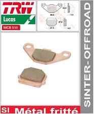 2 Plaquettes frein Avant TRW Métal Fritté MCB519SI Kawasaki KMX 125 (MX125A) 86