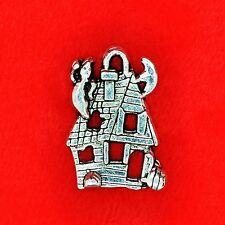 4 x Tibetan Silver Halloween Ghost Haunted House Charm Pendant Beading Making
