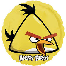ANGRY BIRDS YELLOW BIRD FOIL MYLAR BALLOON ~ Birthday Party Supplies Decorations