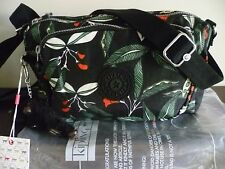 New Kipling  Multi Print Latin Flower ShoulderAcross Body Bag+Fluffy Monkey
