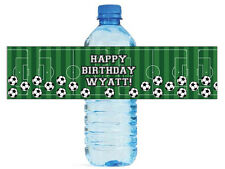 100 Soccer Party Tournament Kids Special Occasion Water Bottle Labels