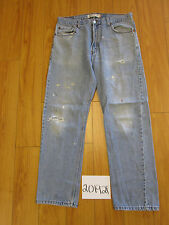 levi 505 regular fit destroyed feather grunge jean tag 36x32 Meas 35x31 20192F