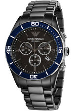 BRAND NEW EMPORIO ARMANI BLACK CERAMICA CHRONOGRAPH MEN WATCH AR1429