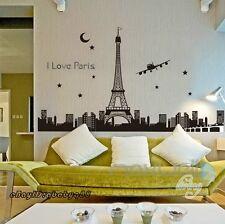 Paris Tower Wall Sticker Removable Window Decals Home Decor Art Glow in Dark