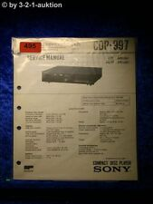 Sony Service Manual CDP 997 CD Player (#0495)