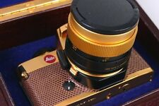 LEITZ Leica r4 GOLD EDITION lusso con Summilux 50mm 1.4 MINT