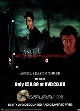 "Angel Season Three ""DVD.co.uk"" 2003 Magazine Advert #5533"