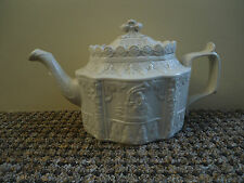 c1800  RARE CASTLEFORD FELSPATHIC STONEWARE TEAPOT AND SLIDING COVER