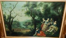 G.GIBSON ORIGINAL OIL ON CANVAS RENAISSANCE STYLE BIRD HUNTING PAINTING FRAMED