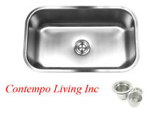 "30"" x 18""x 10"" Deep Stainless Steel Single Bowl 18 Gauge Undermount Kitchen Sink"