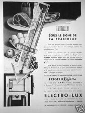 PUBLICITÉ 1932 ELECTRO-LUX FRIGÉLUX BIJOU SOUS LE SIGNE DE LA FRAICHEUR