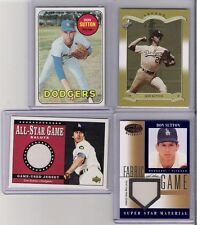 4 COUNT LOT DON SUTTON DODGERS WITH 1 VINTAGE  AND 1 SERIAL #ED CARD