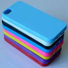 HOT TPU Silicone Rubber Gel Case Cover For Apple iPhone 4 4S / 5 5S / 6 / 6 Plus