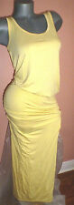 VICTORIA'S SECRET YELLOW TANK MAXI DRESS RUCHED SUNDRESS STRIPED SCOOPBACK  S/P