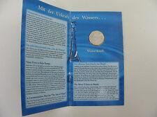 5 Euro Österreich 2003 Silber Gedenkmünze Wasserkraft im Folder  **NEU**