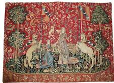 "'THE TASTE'  Woven Fabric Cluny Reproduction Tapestry Wall Hanging NEW 24"" x 34"""