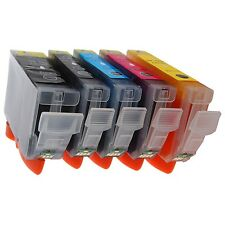 5 x Compatible CHIPPED Ink Cartridges For Canon MG5200, MG 5200