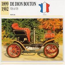 1899-1902 DE DION BOUTON Vis-A-Vis Classic Car Photograph/Information Maxi Card
