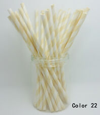 25 Paper Drinking Straws Diagonal Striped Straws Wedding Birthday Party Color 22