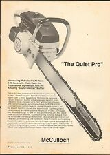 1969 VINTAGE MAGAZINE AD #01022 - 6-10 AUTOMATIC MCCULLOCH CHAIN SAW