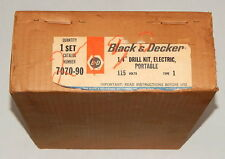 """Black And Decker 1/4"""" Drill Kit, Electric, Portable 115 Volts Type 1 7070-90 SEA"""