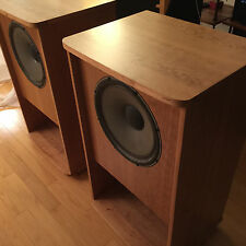 "1 Pair Tannoy 15"" Gold Monitors in Brand New GRF FoldedHorn Cherry Wood Cabinets"