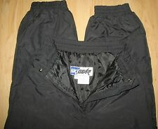 SKI GEAR - NYLON -  INSULATED WATERPROOF PANTS WOMEN'S SMALL - BLACK
