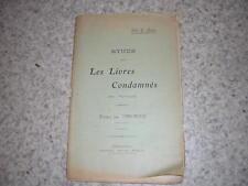 1900.étude sur livres condamnés par épiscopat / abbé Aubry.Cherbourg Manche