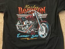 "Rare Harley Davidson 90Th Anniversary ""Enough Said"" Shirt Nwot Men's XL"