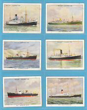 SHIPPING - WILLS  -  SCARCE SET OF L 30 FAMOUS BRITISH LINERS 2ND CARDS  -  1935