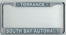 Torrance California South Bay Autohaus Vintage Mercedes Benz License Plate Frame