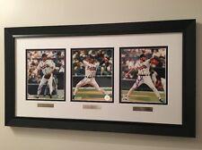 "Greg Maddux Tom Glavine John Smoltz Custom Framed 8x10"" Auto Cert Atlanta Braves"