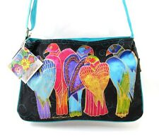 LAUREL BURCH BRAZILIAN BIRDS MEDIUM CROSSBODY SHOULDER BAG ~ NEW