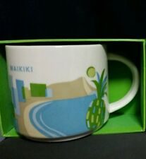 "Starbucks Mug Waikiki Hawaii ""You are here"" 14 oz. - Brand New!"