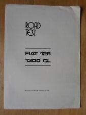 FIAT 128 1300 CL SALOON orig 1976 UK Mkt Road Test Brochure