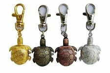 LADIES/GIRLS/NURSES TORTOISE/TURTLE KEYRING/KEYCHAIN PENDANT POCKET FOB WATCH